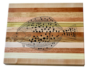 Flounder Wooden Serving Board
