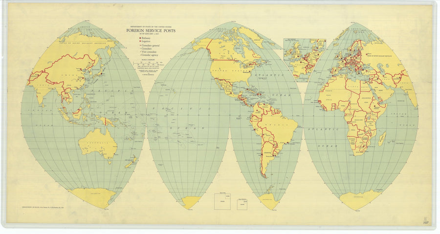 Foreign Service Posts Map - 1937