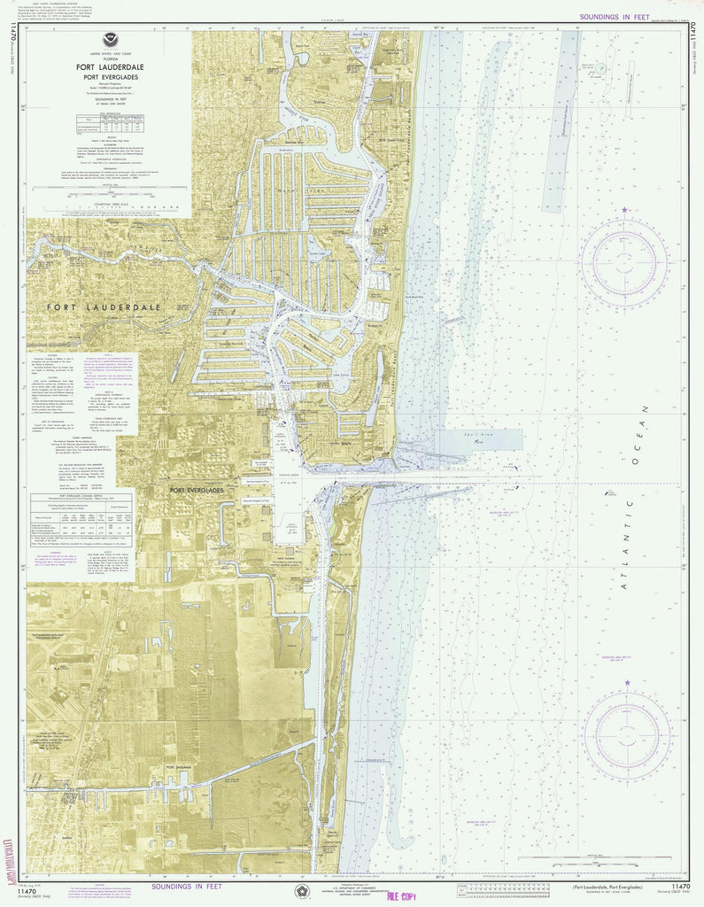 Fort Lauderdale and Port Everglades Map - 1975