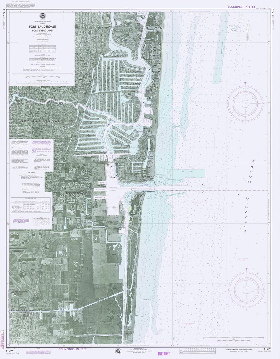Fort Lauderdale and Port Everglades Map - 1976