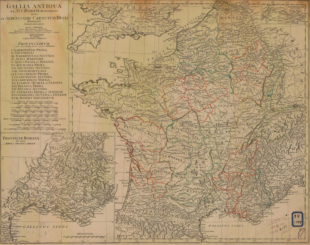 France Map - 1783