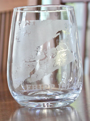 Fripp Island Map Glasses
