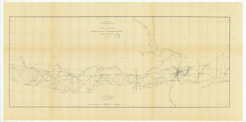 Geodetic Connection - Atlantic and Pacific Coast Triangulations - 1879