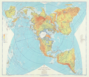 Global Chart of the World Map -1957