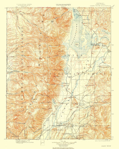 Teton National Forest Map - 1909