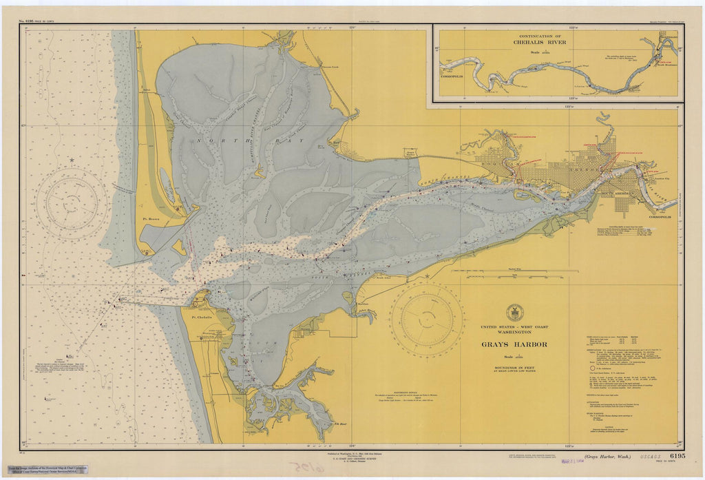 Gray's Harbor (Washington) Map - 1948