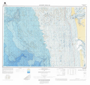 Gray's Harbor and Willapa Bay Bathymetric Fishing Map F51 - 1987