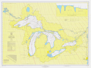 Great Lakes Map - 1972
