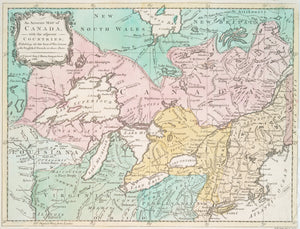 Great Lakes & Canada Map - 1761
