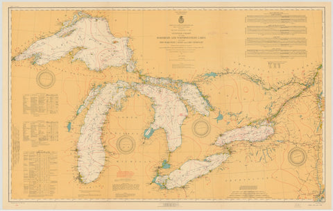 Great Lakes Historical Map - 1921