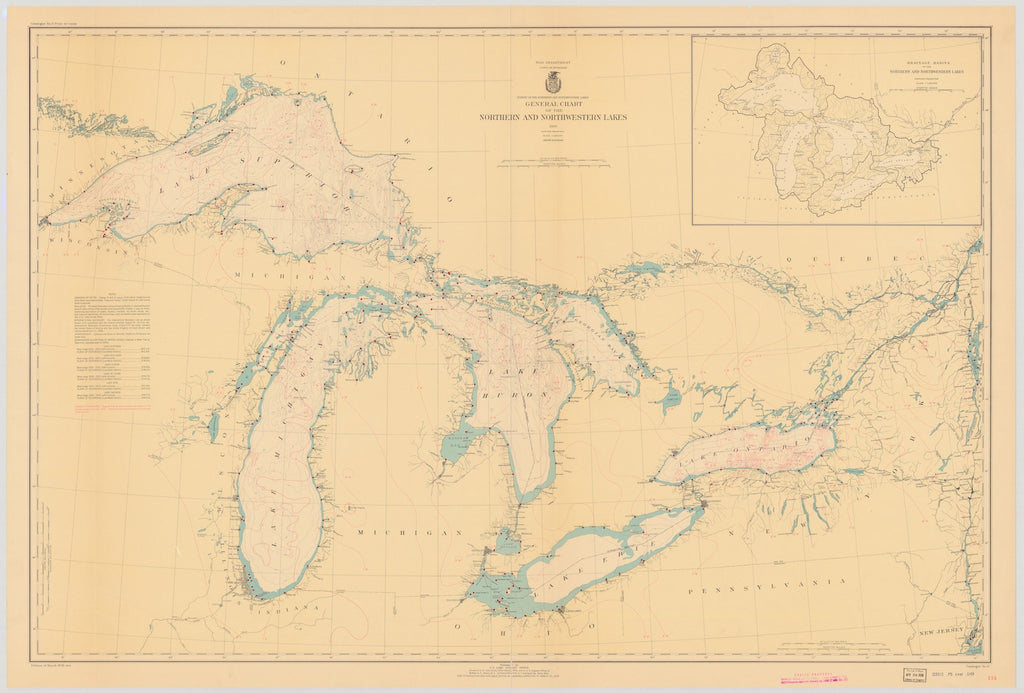 Great Lakes Map - 1938