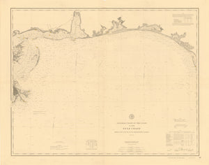 Gulf Coast - Cape San Blas to Mississippi Passes 1895