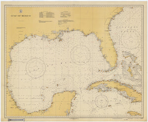 Gulf of Mexico - Historical Map - 1931