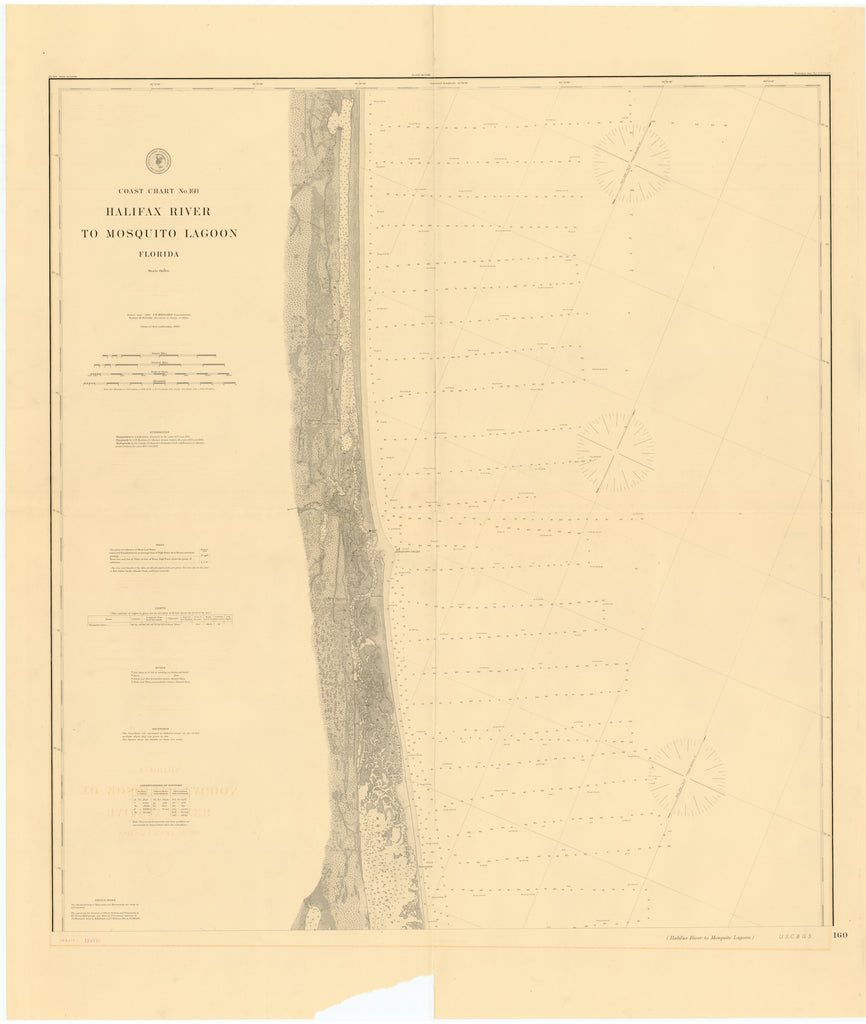 Halifax River to Mosquito Lagoon Map - 1882