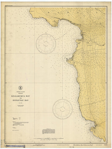 Hawaii - Kealakekua Bay Historical Map 1928