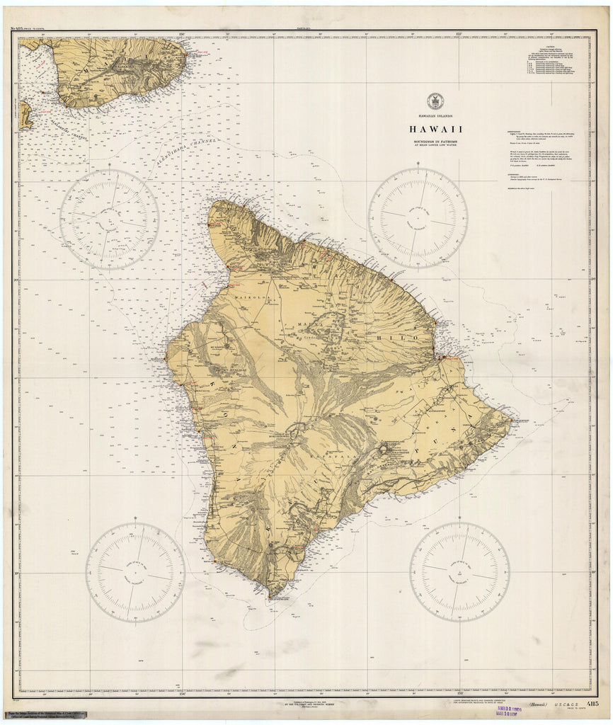 Hawaii Historical Map 1936