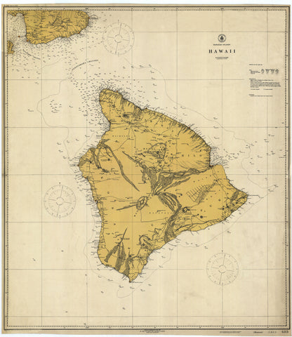 Hawaii Historical Map 1917