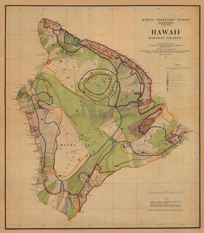 Hawaii Topographical Map 1901