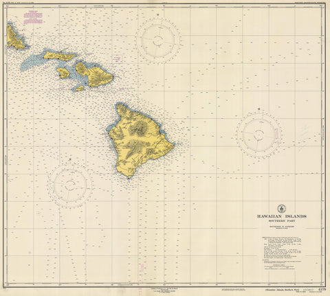 Hawaiian Islands Historical Map 1948