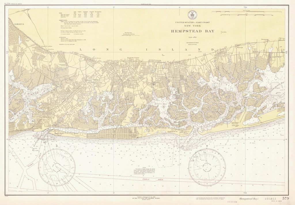 Hempstead Bay (Long Island) Historical Map - 1934