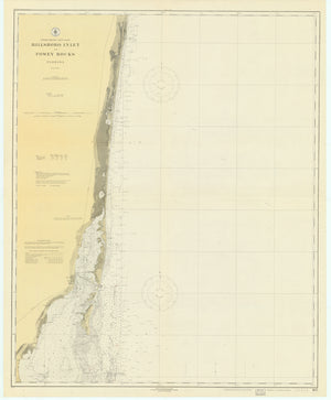 Hillsboro Inlet to Fowy Rocks Map - 1919