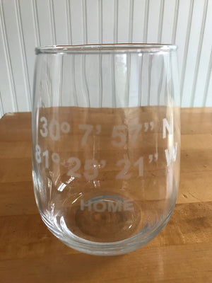 Custom GPS Coordinates Glasses
