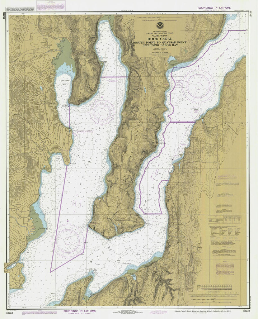 Hood Canal - South Point to Quatsap Point Map - 1984