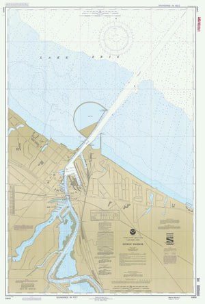 Huron Harbor Map - Lake Erie Chart - 1992