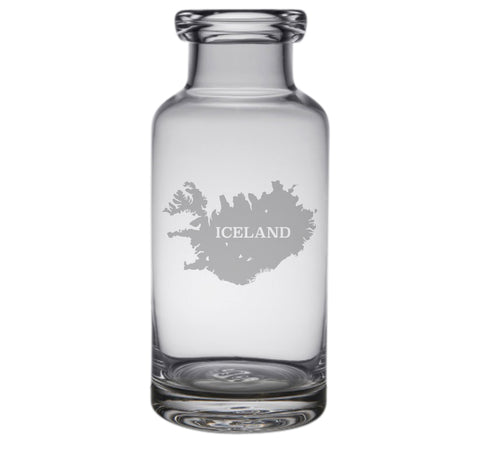 Iceland Engraved Glass Carafe