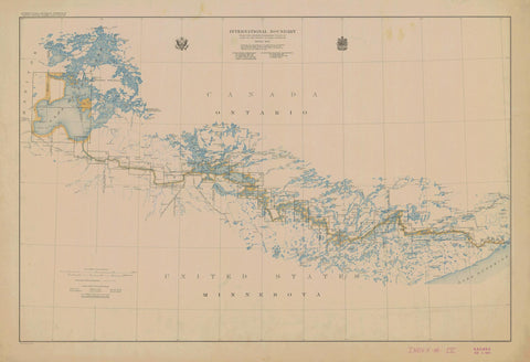 International Boundary Index Map - Lake of the Woods to Lake Superior
