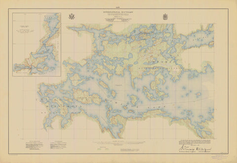 International Boundary Map - Lake of the Woods to Lake Superior #14