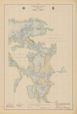 International Boundary Map - Lake of the Woods to Lake Superior #15