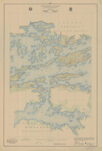 International Boundary Map - Lake of the Woods to Lake Superior #10