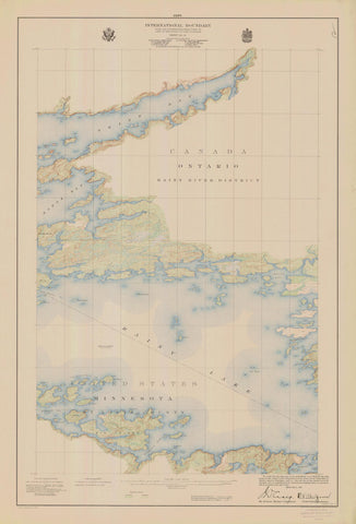 International Boundary Map - Lake of the Woods to Lake Superior #12