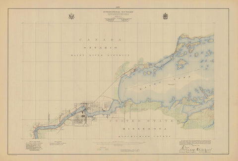 International Boundary Map - Lake of the Woods to Lake Superior #9