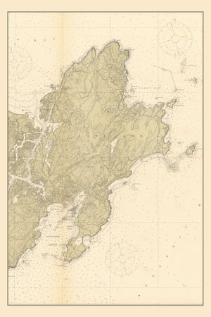 Gloucester and Rockport Map - 1912