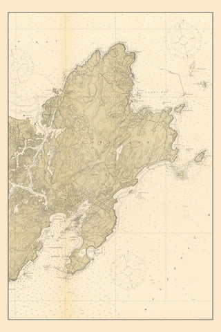 New England Maps Tagged Gloucester Harbor Nautical Chart Prints
