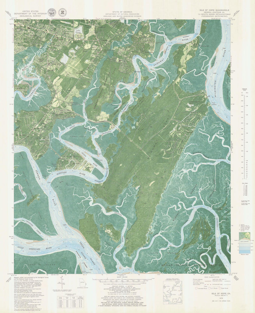 Isle of Hope Map - 1979