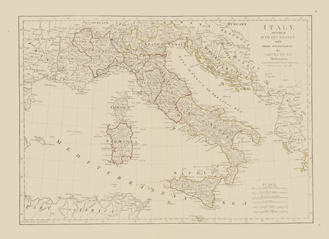Italy Map - 1786