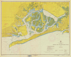 Jamaica Bay & Rockaway Inlet Map - 1954