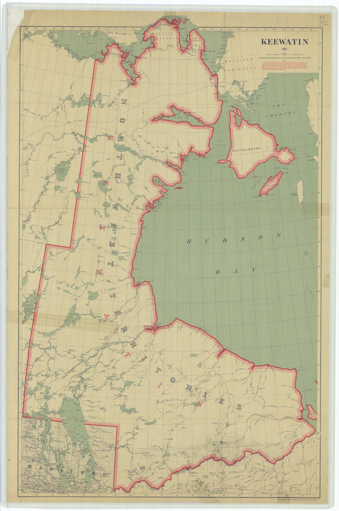 Keewatin - Northwest Territories - Canada Map - 1911