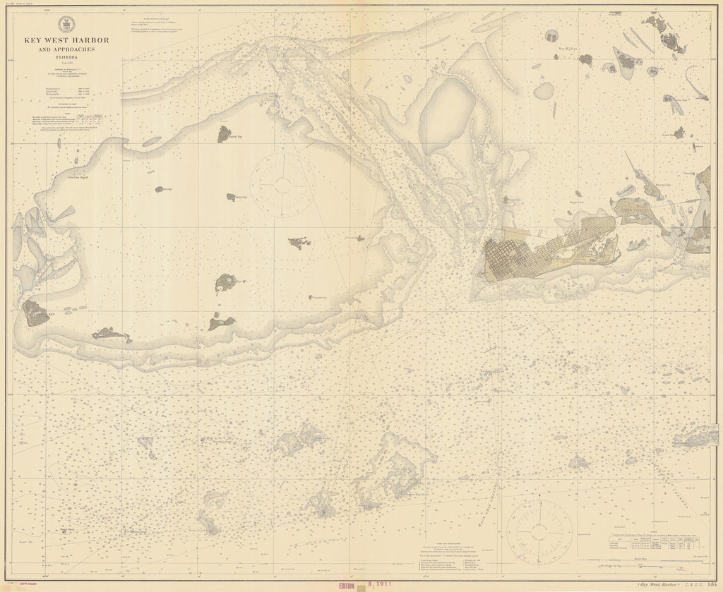 image about Printable Map of Key West identified as Top secret West Ancient Map - 1911