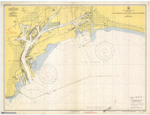 Los Angeles and Long Beach Harbors Map - 1942