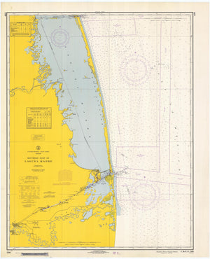 Laguna Madre - Southern Part Map - 1967