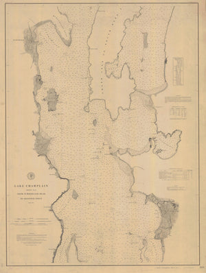 Lake Champlain Map - 1879