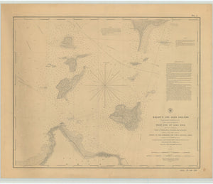 Lake Erie Islands & Sandusky Bay Map - 1852