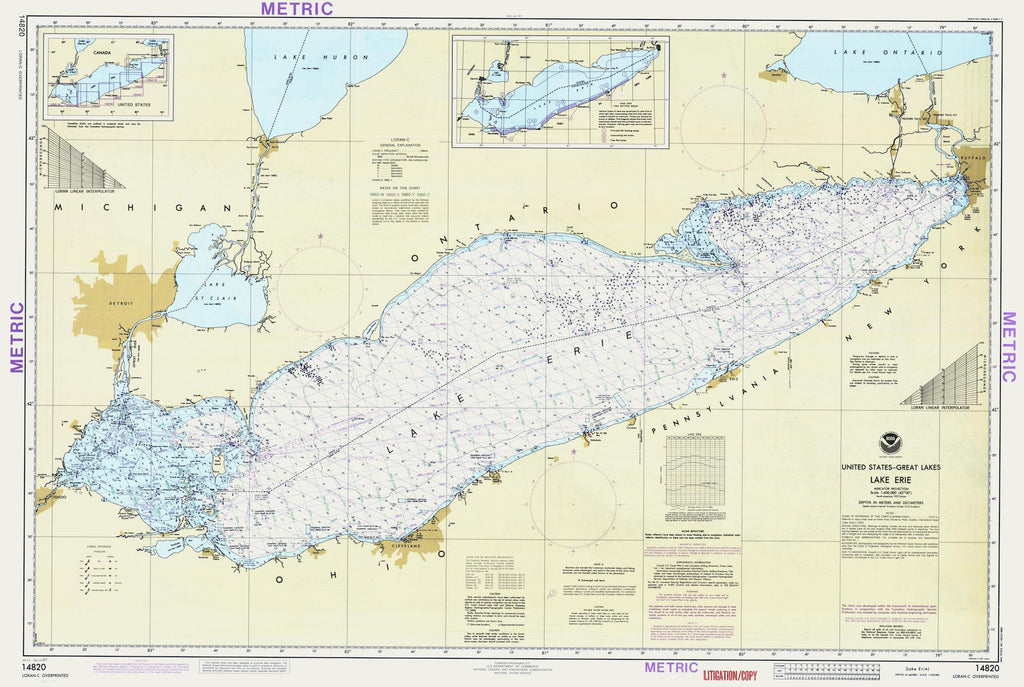 Lake Erie Map - 1987