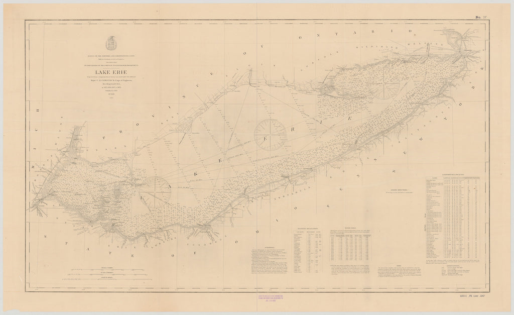Lake Erie Historical Map - 1897