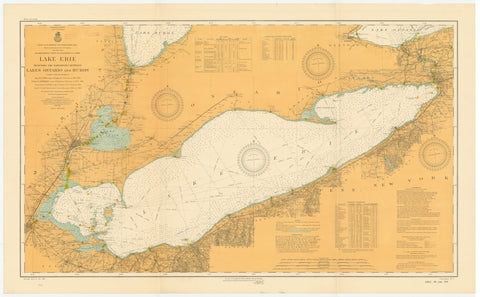 Lake Erie Historical Map - 1913