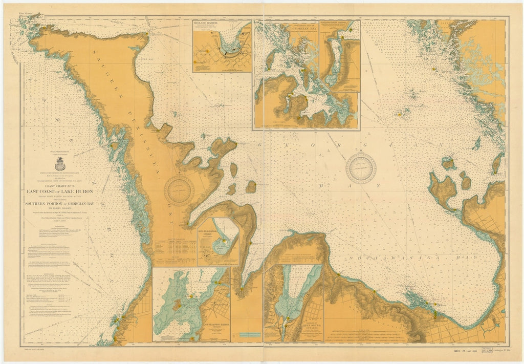 Lake Huron - East End - Georgian Bay Historical Map 1904
